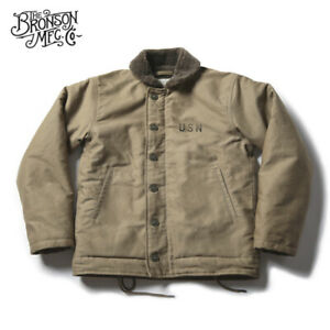 Vintage-Bronson-USN-N-1-Deck-Jacket-WW2-Military-Uniform-Motorcycle-Men-039-s-Coat