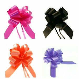 APAC 20 x 50mm PULL BOWS FOR WEDDING PEWS, CAR DECOR, GIFT WRAP, FLORISTRY - NEW