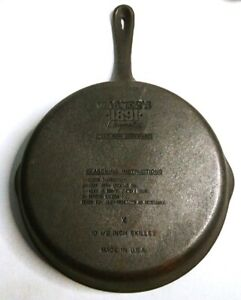 Wagner-Ware-1891-Original-Cast-Iron-10-5-Frying-Pan-Skillet-Made-in-USA