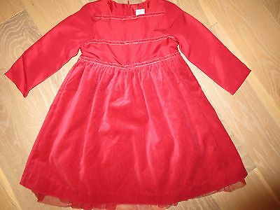 NWT Gymboree Vintage Holiday Magic RED Tulle Silk Dress Girls 3
