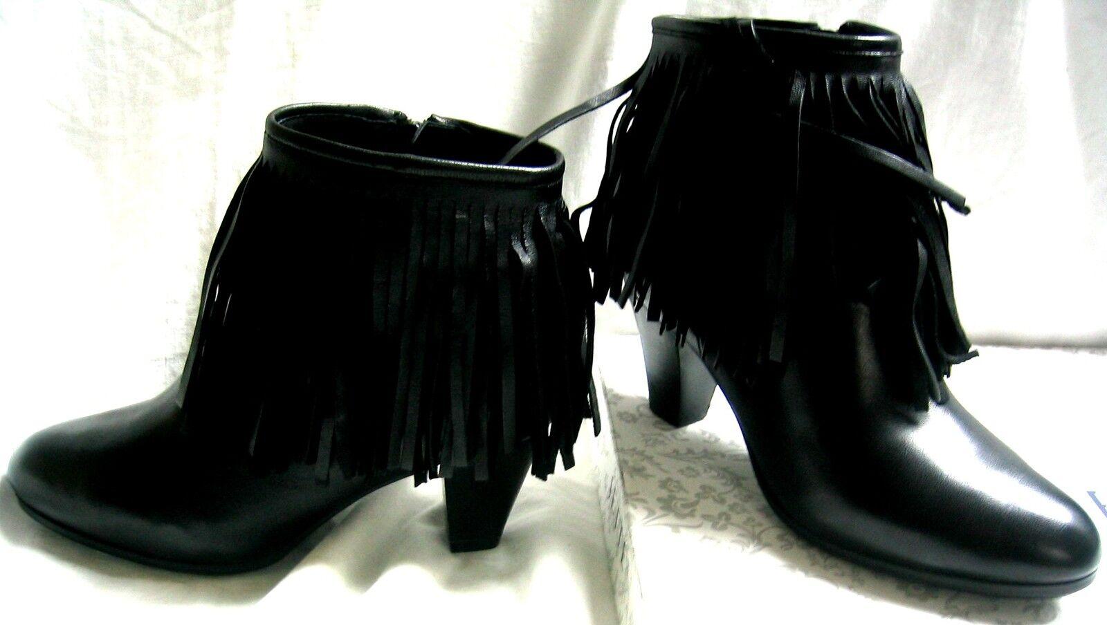 Jette Stiefel Stiefelette Pocahontas 37,5   4,5 4,5 4,5 AnkleStiefel Fransen High Heel NEU 05b32f