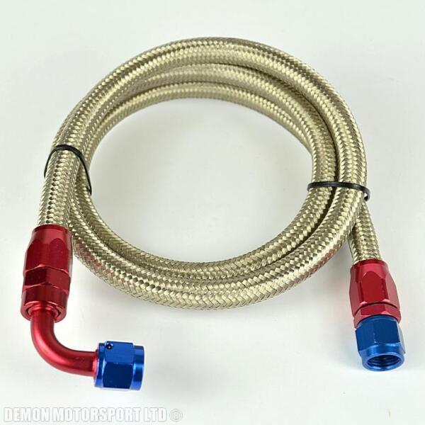 """-6 (an6 8mm 5/16"""") Stainless Braided Hose Assembley 121cm Fuel Surge Tank R/b Om Digest Greasy Food Te Helpen"""
