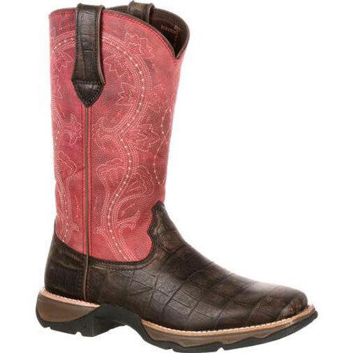 Womens Durango Rebel Square Toe Gator Print Boot Style DRD0147 FREE SHIPPING
