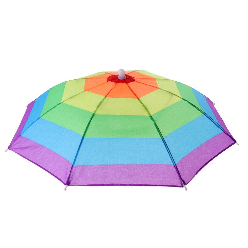 Cheekbonny Sonnenschirm Hut Regenschirmhut Faltbarer Sonnenschirm Regenschirm kopfschirm Hut Outdoor Hand freie wasserdichte UV Schutz leichte Angeln Schirmm/ütze 77 cm Durchmesser