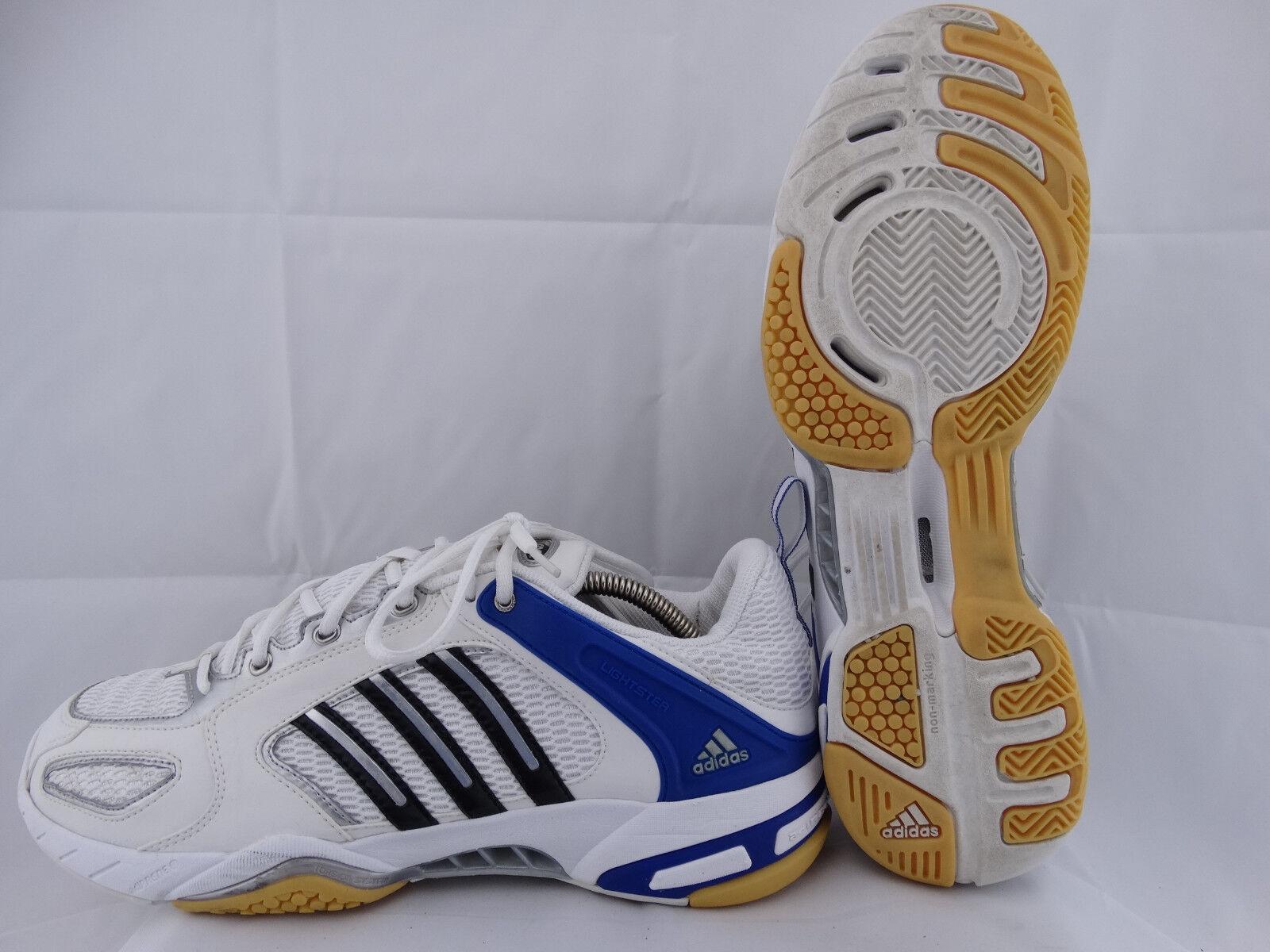 Adidas CC Badmintonschuhe ClimaCool 464206 weiß-blau-silber EU 47 1 3 UK 12