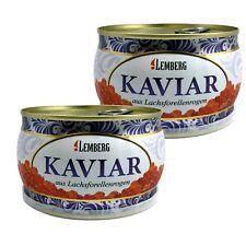 2x 400g ( 1kg/44,99€) Forellenkaviar Lachsforelle Forelle Kaviar Dose Aquakultur