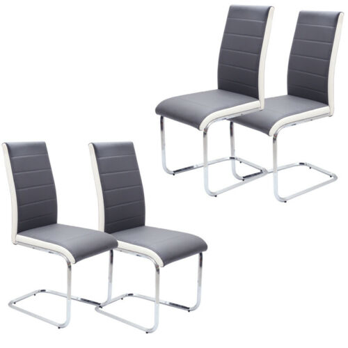 2/4/6X Kitchen Dinning Chairs Office Hotel Restaurant Faux Leather Padded Chairs