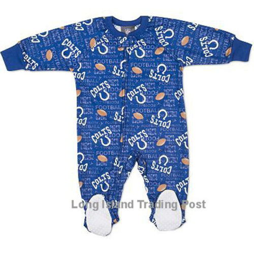 Indianapolis Colts Toddler NFL Pajamas Warm Fleece Blanket Sleeper 2T 3T 4T