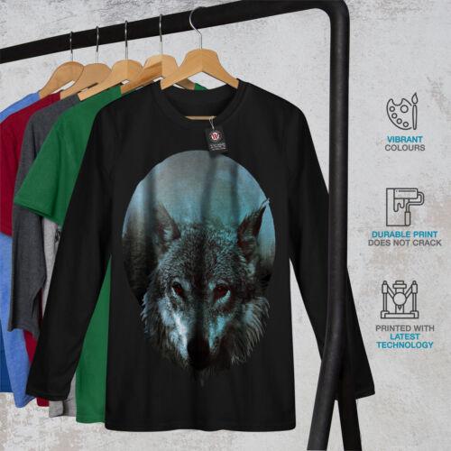 Wolf Moon Light Hunt Hommes T-shirt à manches longues Nouveauwellcoda