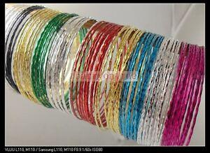 100-lady-girls-colorful-metal-Bracelet-wristband-fashion-wholesale-jewelry-lots