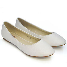 0205f038c30e item 1 Womens Flat Pumps Ladies Glitter Ballet Ballerina Dolly Bridal Shoes  Size 3-8 -Womens Flat Pumps Ladies Glitter Ballet Ballerina Dolly Bridal  Shoes ...