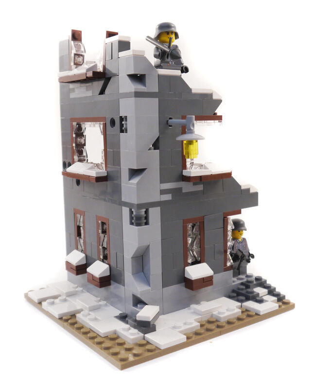 Custom LEGO®  WWII Stalingrad scene - Ruined Factory - With offer