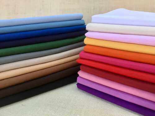 Plain Ottoman Fabric Curtains Upholstery Cotton Canvas Material 140cm Purple