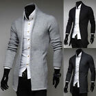 Korean Fashion Men's Casual Slim Fit Long-sleeve Shawl Knit Cardigan Coat Jacket