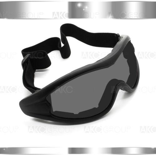Smoked Lens Black Frame Motocross MX Dirt Bike Off Road Motorcycle ATV Goggles