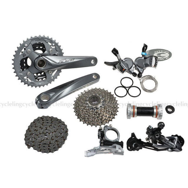 8a34a3b464c Frequently bought together. SHIMANO Alivio M4000 Groupset MTB Mountain Bike  Bicycle Group Set 9-speed 7pcs