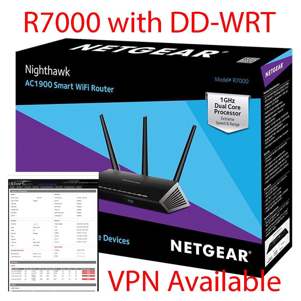 Netgear AC1900 1300 Mbps 4-Port Gigabit Wireless AC Router (R7000 ...