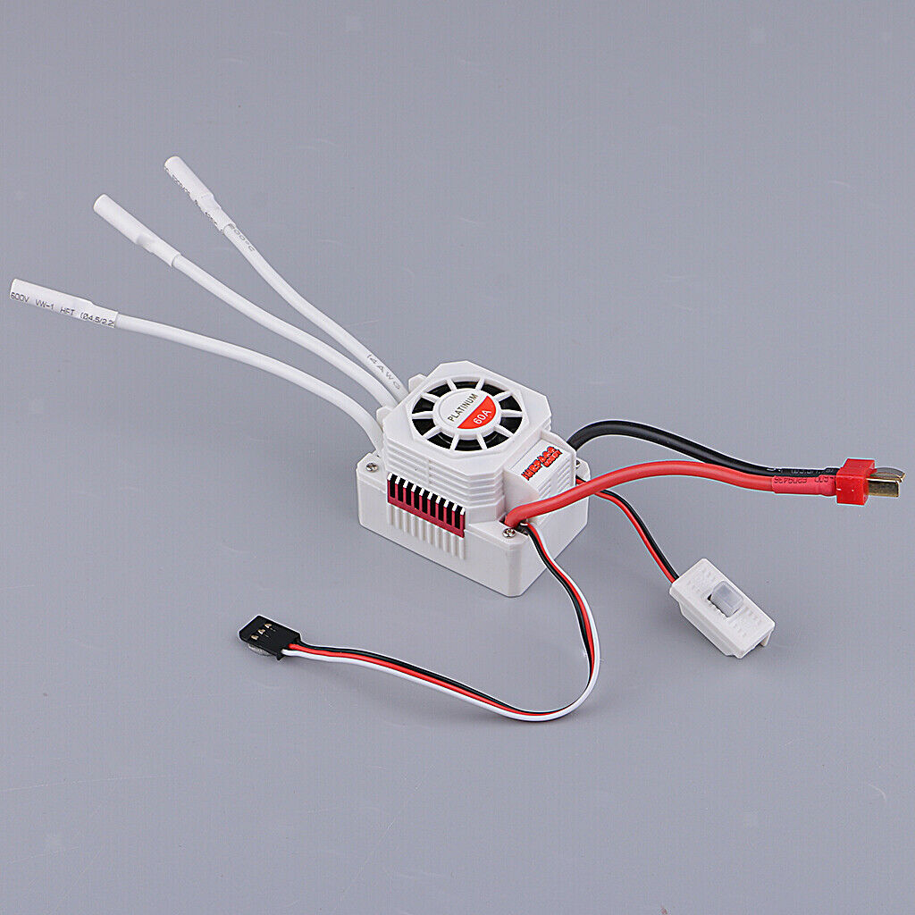 Electronic Speed Control Waterproof 60A Brushless Brushless Brushless ESC for 1 10 RC Car Motor d5bb43