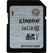 Kingston 16gb SDHC Card Class 10 80mb/s Speed (SD10VG2/16GBFBR) (SMP4)