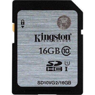 Kingston 16gb SDHC Card Class 10 80mb/s Speed (SD10VG2/16GBFBR)