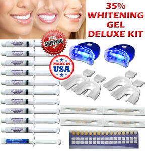 35 Peroxide Gel Teeth Whitening Laser Led Uv Light Whitener At Home Dental Kit 741296772034 Ebay