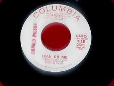 DONALD WILSON~LEAN ON ME~MEGA RARE WITH  FLIP SIDE ~POOR MAN~~ NORTHERN SOUL 45