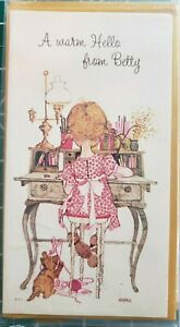 VTG-Holly-Hobbie-Stationery-3-Personalized-Hello-from-BETTY-Name-Note-Cards-1969