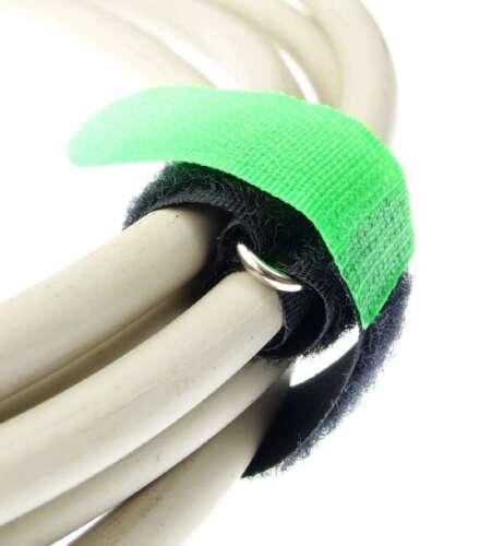 30x Kabelklettband 20 cm x 20 mm neon grün Klettband Klett Kabel Binder Band Öse