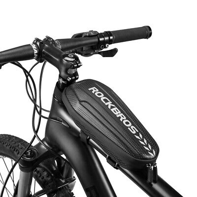 RockBros Waterproof Cycling Portable Bicycle Top Tube Frame Bag Black Size M