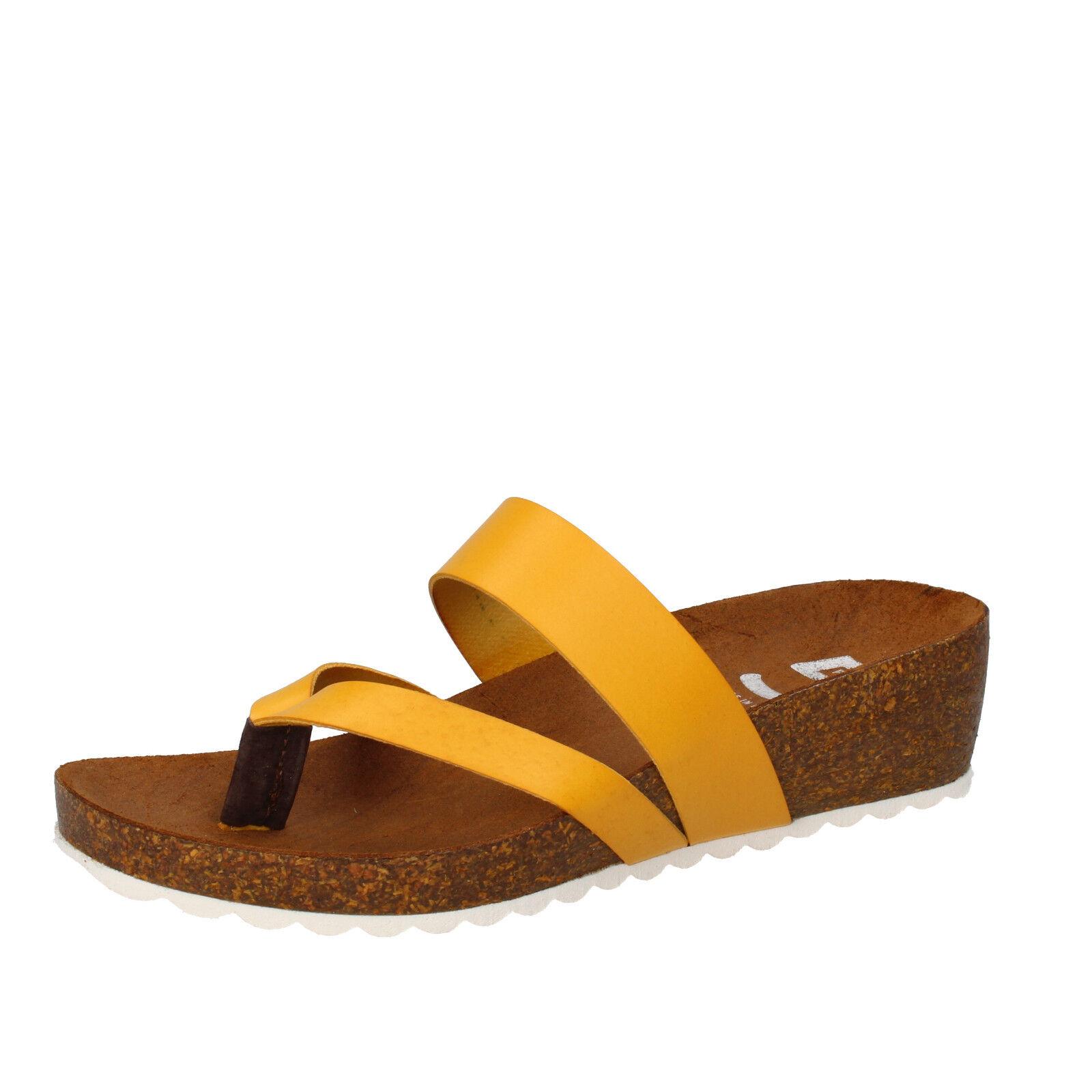 Scarpe donna 5 PRO JECT pelle 37 EU sandali giallo pelle JECT AC597-C a9c8e1