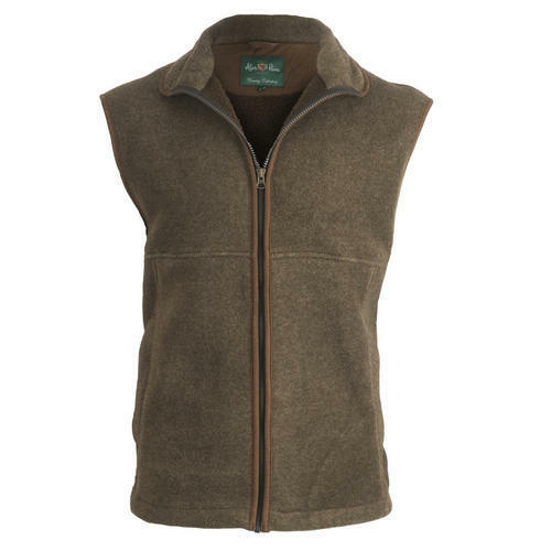Mens Fleece Waistcoat Gilet Brown Size 40 42 44 M L XL Alan Paine shooting