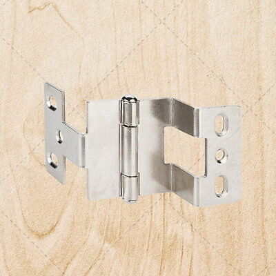 "Furniture Hinges Three Knuckle 270 Deg w// Tip Bright Nickel 3//4/"" x 3//4/"" hn975"