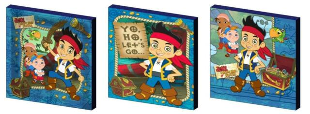 JAKE AND THE NEVERLAND PIRATES - CANVAS ART BLOCKS/ WALL ART PLAQUES/PICTURES