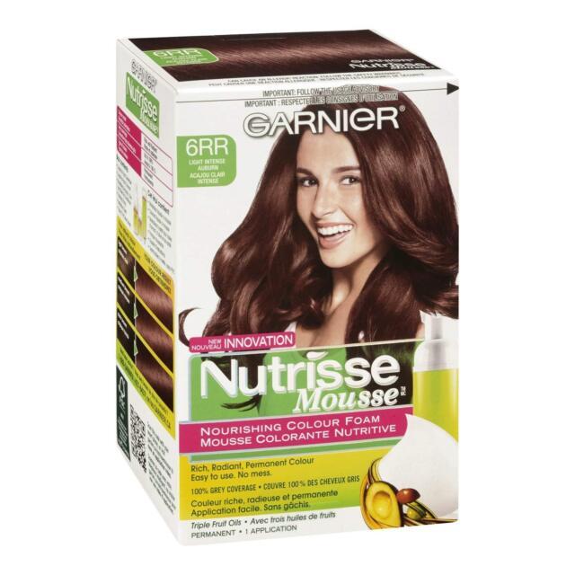 Garnier Nutrisse Nourishing Color Foam Permanent Haircolor Light Intense Auburn 6rr 1 Ea