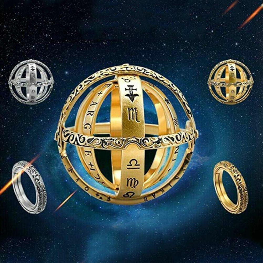 Astronomical Sphere Ball Ring Cosmic Finger Ring Couple Lover Gift Luckyfin U8D7