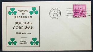 US-Postal-History-Adv-Cover-Dearborn-Stamp-Club-3c-1938-USA-Letter-H-7588