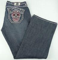 Laguna Beach Men's Jeans W42 L36 Hand Stitched Distressed Sugar Skulls