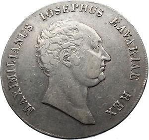 1816-GERMANY-Kingdom-of-Bavaria-MAXIMILIAN-I-Joseph-Silver-Taler-Coin-i70676