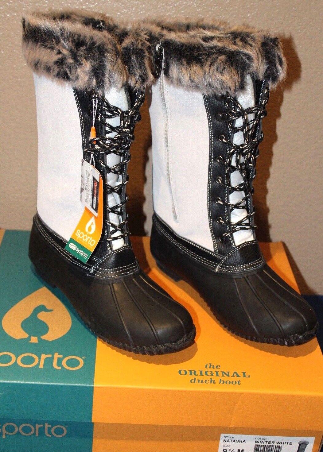 Sporto® Sporto® Sporto® Natasha; Waterproof Suede and Leather Duck Boot, Winter White 71 2 M 226645