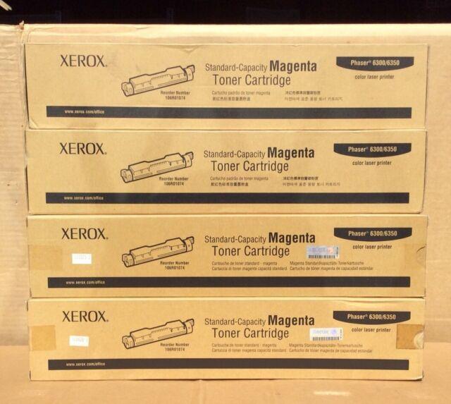 Xerox Standard Capacity Toner Cartridge Phaser 6300/6350 Magenta (1 lot of 4)
