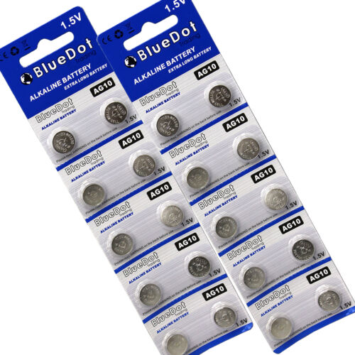 20Pk AG10 G10 LR1130 SR1130 L1131 G10A Alkaline Button Coin Battery 1.5V NEW