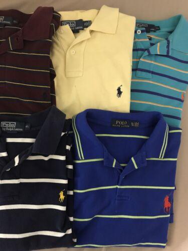 Lot of 5 Ralph Lauren Polo Shirts Men's Size L 110 - Gem