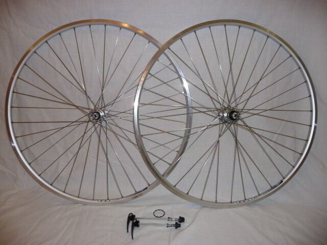 Ryde Chrina wheels with Shimano hubs - tough wheels for Audax and high miles.