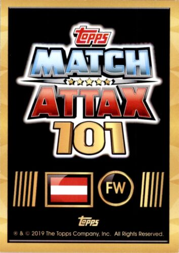 No International Star Topps Match Attax 101 Marko Arnautovic Austria 62