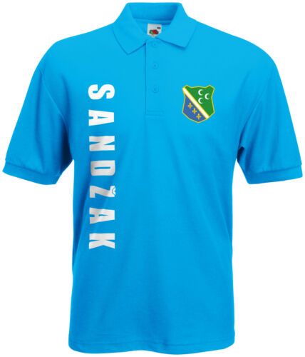 Coupe du monde 2018 Sandžak Sandžak Sandzak Polo-Shirt Maillot Nom Numéro