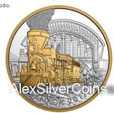2017 $20 FINE SILVER COIN LOCOMOTIVES ACROSS CANADA: THE 4-4-0