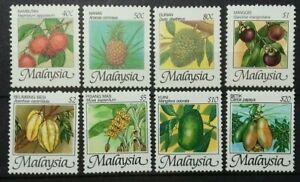 MALAYSIA FRUITS 1986 SG 344 - 351 MNH OG FRESH