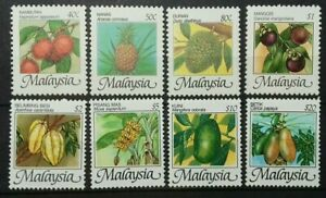 MALAYSIA-FRUITS-1986-SG-344-351-MNH-OG-SET-II