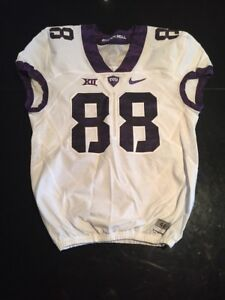 Game Worn Used Nike TCU Horned Frogs Football Jersey  88 Size 46  0644a994c