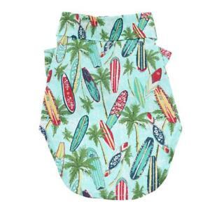 Doggie-Design-Hawaiian-Camp-Dog-Shirt-Surfboards-And-Palms-Sizes-XXS-2XL
